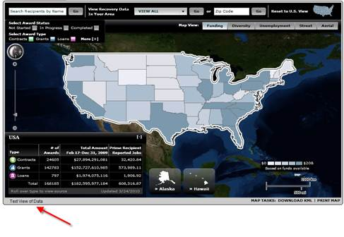 Figure 6: Where Is the Money Going Flash-based ESRI Map